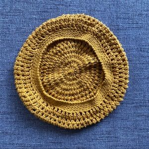 Golden Yellow Knitted Barrette